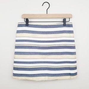 J. Crew Striped Metallic Mini Skirt